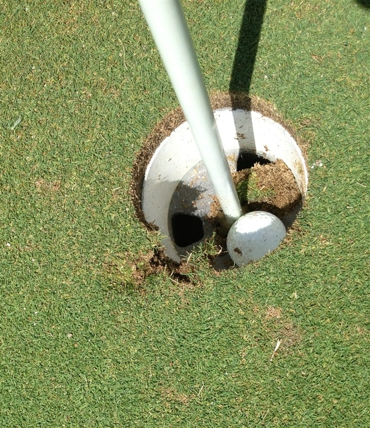 Amazing hole in one