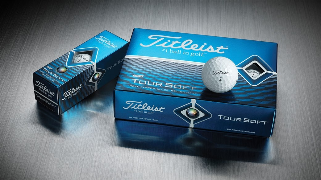 2020 Titleist Tour Soft Golf Ball Dozen, 3-ball sleeve and single golf ball