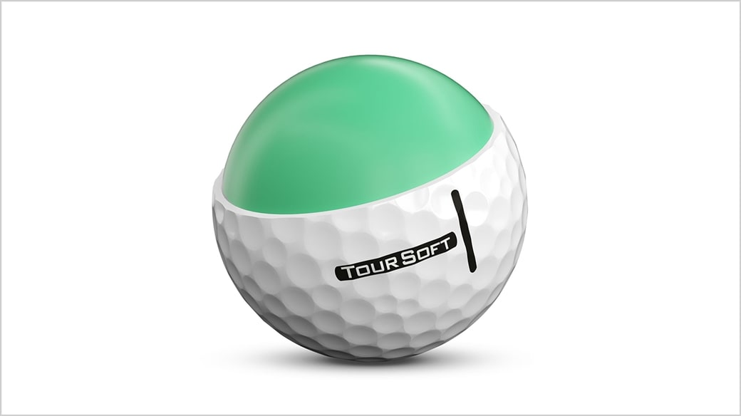 Rendered Image of reformulated, larger and faster core in new 2020 Titleist Tour Soft golf ball