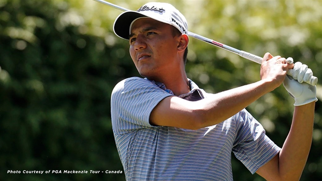 Alex Chiarella during action on the 2019 PGA MacKenzie Tour - Canada