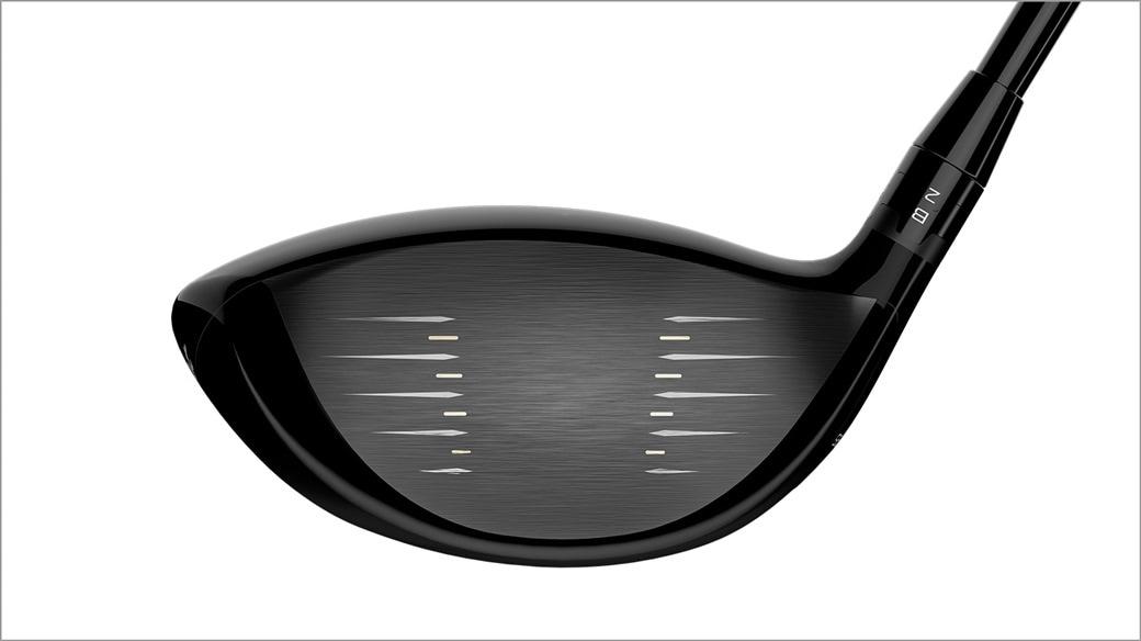 Titleist TS4 golf driver club face close up