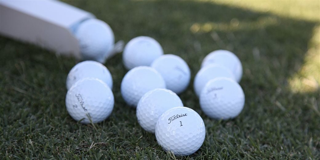 Assortment of Titleist prototype golf balls