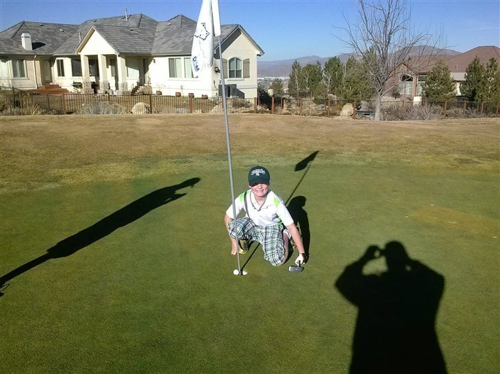 9 year old Son gets 1st hole in one